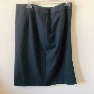 Dark Grey Calvin Klein Pencil Skirt